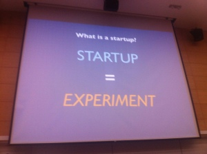 A startup is an experiment